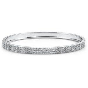 Jewelry - 8.50 Ct round brilliant cut diamonds bangle bracel